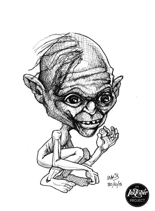 @MrSmithMachine - #inktober Day 30: Gollum