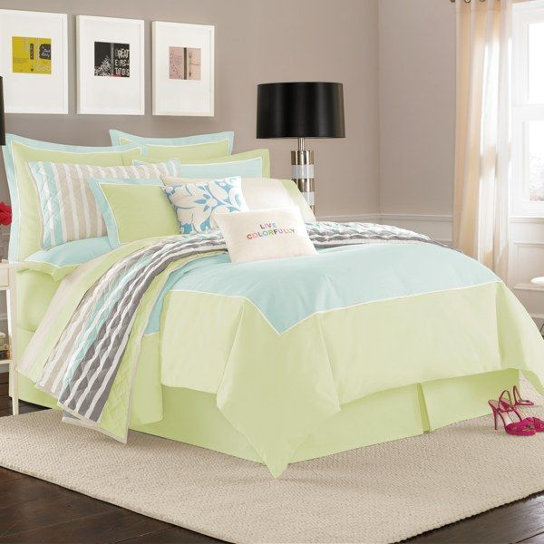 Kate spade new york spring street duvet cover 100 cotton for Bed bath and beyond kate spade