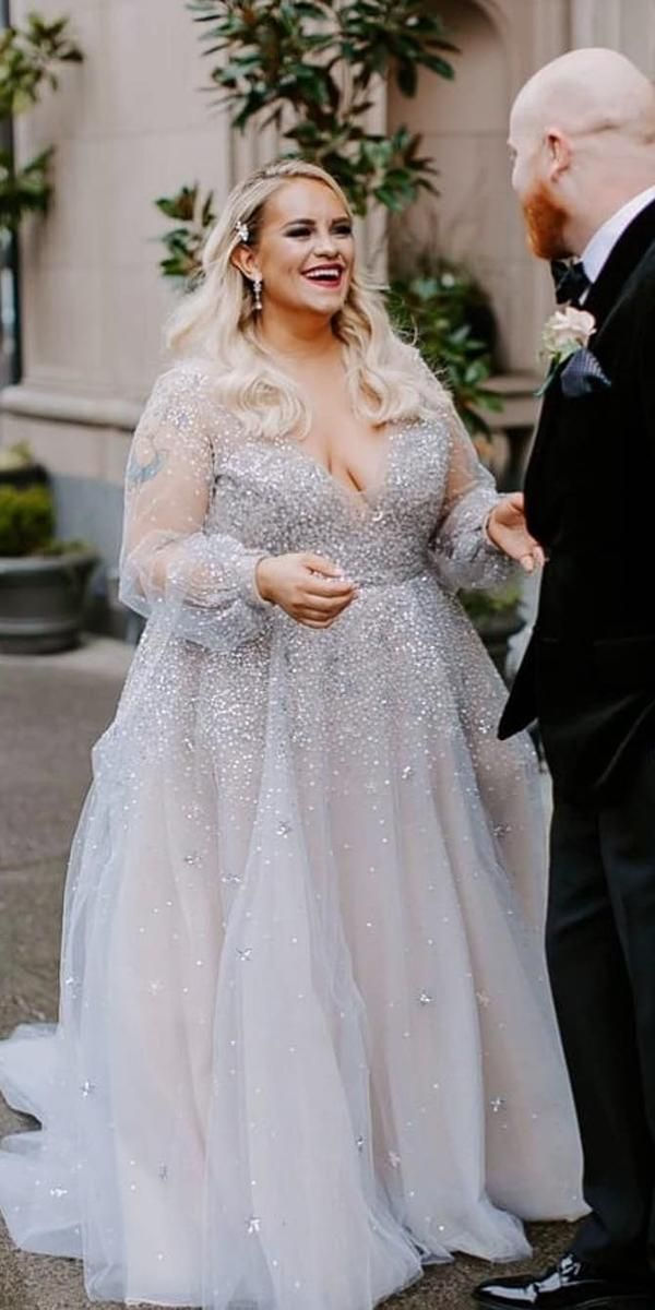 36 Plus Size Wedding Dresses A Wow Guide Wedding Forward Plus Size Wedding Dresses With Sleeves Plus Wedding Dresses Plus Size Wedding Gowns