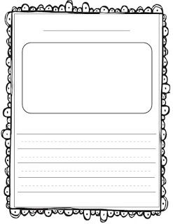 Sticker Story Paper FREEBIES! Such a simple and fun writing activity.