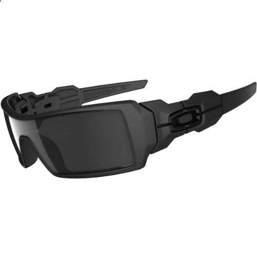 Oakley Oil Rig Sunglasses - Oakley Mens Lifestyle Authentic Eyewear - Matte Black/Black Iridium / One Size Fits All by Oakley, www.amazon.com/...