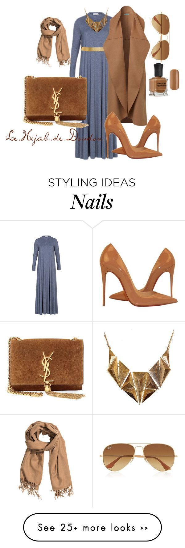 """Hijab Outfit"" by le-hijab-de-doudou on Polyvore featuring мода, Deborah Lippmann, ASOS, Yves Saint Laurent, Ruby Rocks, Ray-Ban, H&M и Christian Louboutin"
