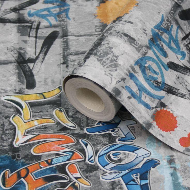 City/Urban Graffitis Multicolour Standard Paper Wallpaper | Departments | DIY at B&Q