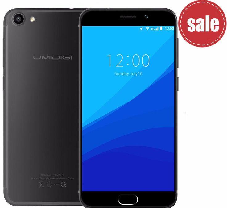 umidigi G Original Android 7.0 cellphone  2G 16G 4G Lte Touch ID Dual Sim 5'' HD 4Core
