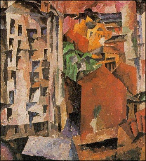 Town, 1919, Aristarkh Lentulov