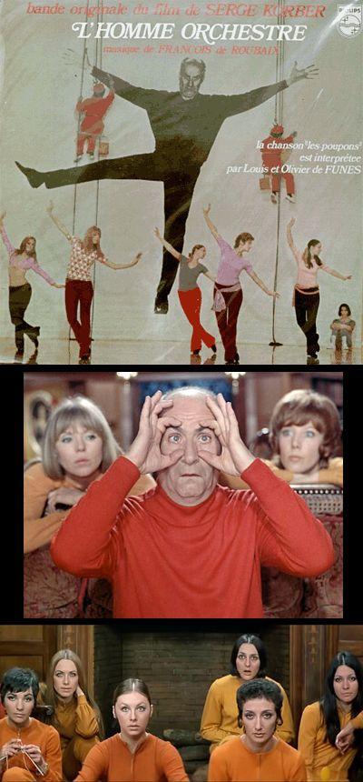 L'homme orchestre (1970) • Director: Serge Korber • Writers: Jean Halain (adaptation), Serge Korber (adaptation), 2 more credits • Stars: Louis de Funès, Noëlle Adam, Olivier De Funès