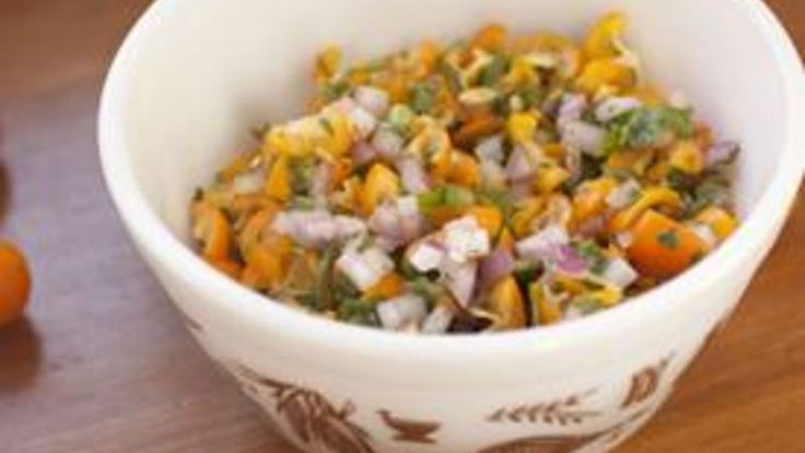 A bright and fresh kumquat salsa that goes great on fish or chicken.
