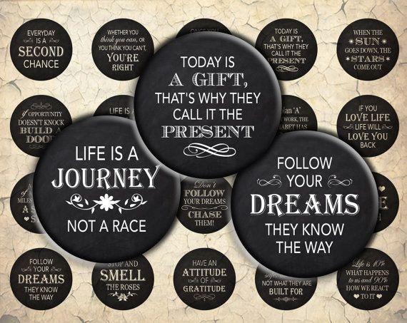Inspirational Blackboard Quotes  30mm 25mm 1 inch & by HelenEmmett