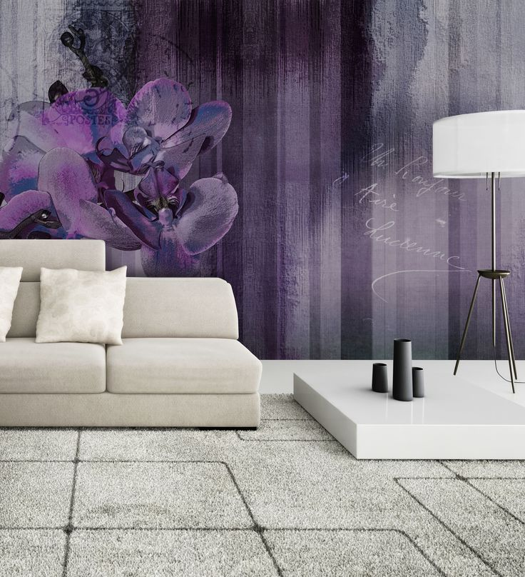 Panoramic wallpaper ORCHID Wallpaint Collection by N.O.W. Edizioni