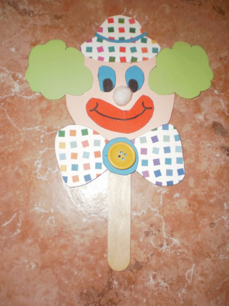 clown puppet/mask