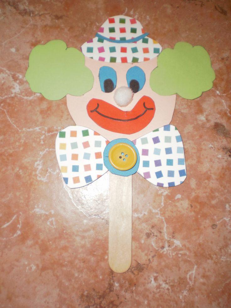 clown puppet/mask