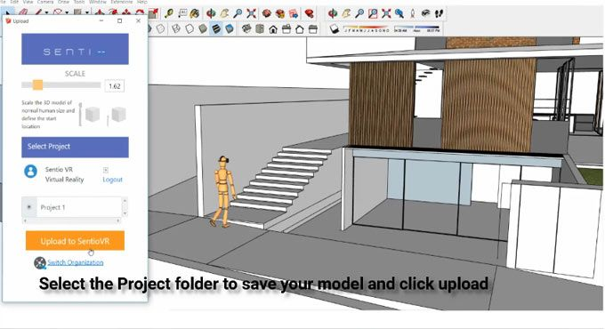 Sentiovr Sketchup To Virtual Reality Vr Walkthroughs Is The