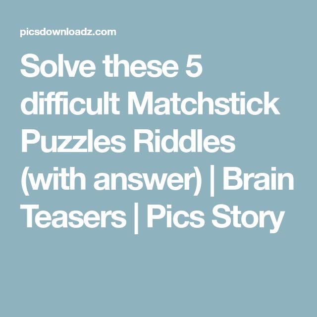Can You Solve This Viral Math Puzzle That Is Boggling: Best 25+ Brain Teasers Ideas On Pinterest