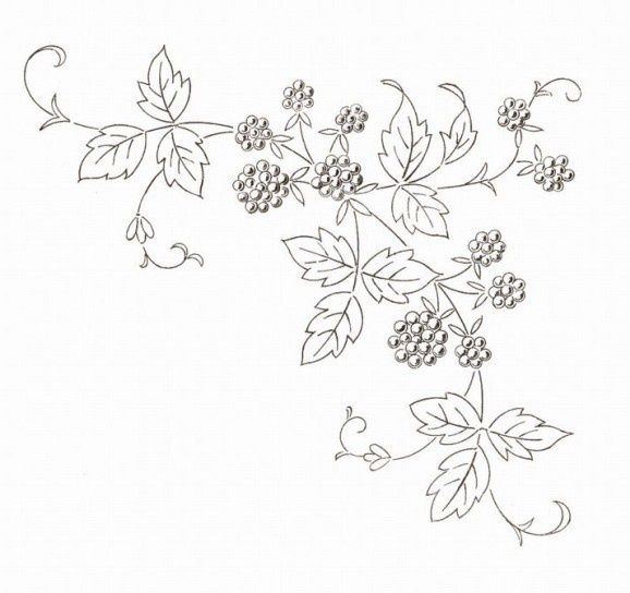 fruit embroidery patterns | Vintage French Fruit Embroidery Patterns. Free at http://broderieantan ...