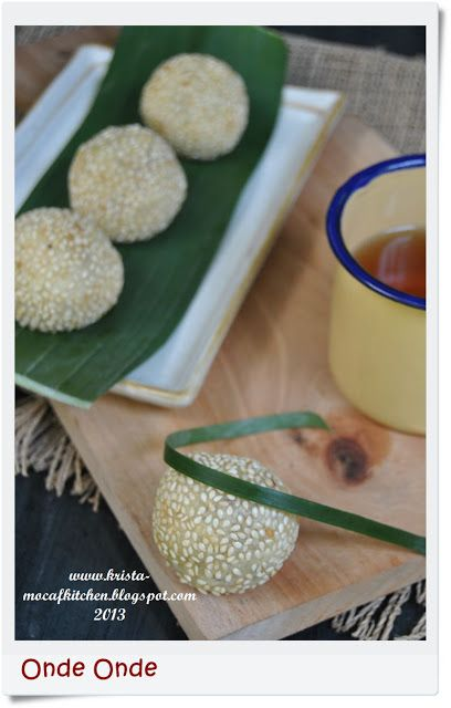 KRISTA MOCAF KITCHEN: Onde Onde - Indonesian Traditional Food