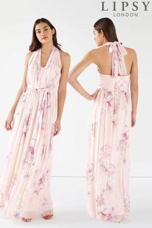 1de2b8ed7 Buy Lipsy Rebecca Amber Printed Multiway Maxi Dress from Next USA ...