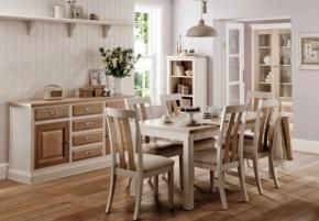 Traditional meets contemporary with this simple yet stunning extending dining table. With farmhouse charm, its painted cream finish makes it equally fashionable.