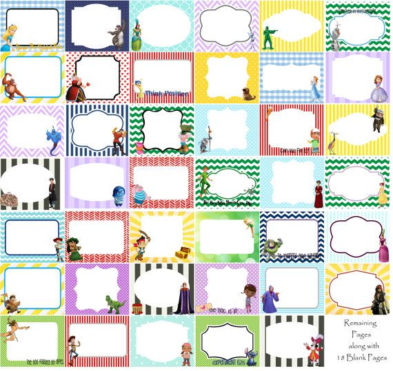 151 best images about Disney printables / borders / photo ...
