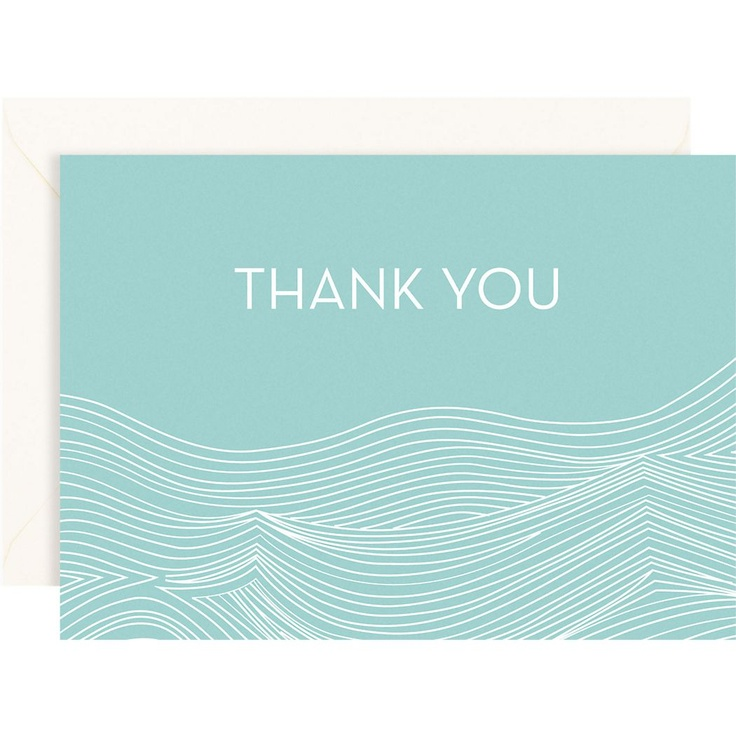 wedding thank you cards time limit%0A Pool Waves   bar Thank You Notes  Paper Source