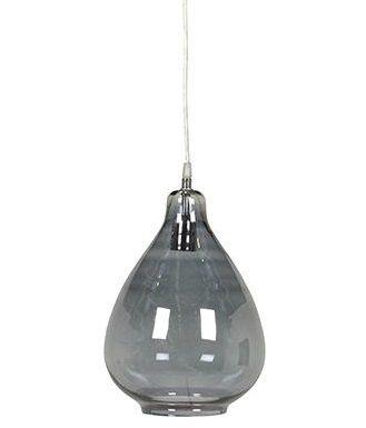 Genie Glass Teardrop Pendant #greysmoke #beauty #illuminate www.globewest.com.au