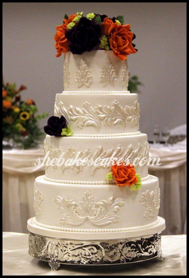 purple and orange wedding cake ideas 66 best images about fall wedding cakes on 18864