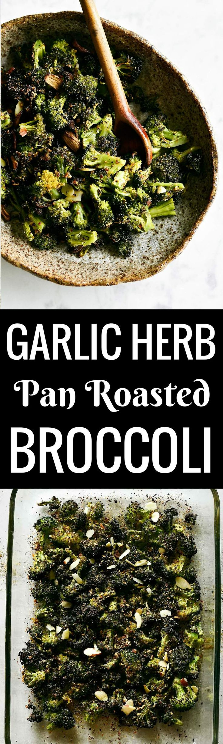 The easiest 15 Minute roasted broccoli with garlic and herbs. Only a few ingredients are needed for this healthy broccoli recipe and they are all clean eating approved! Pin this healthy vegetable recipe to make later.