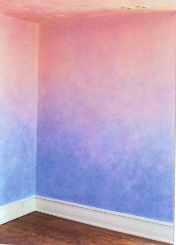 17 besten akzentwand bilder auf pinterest wandmalereien - Farbverlauf wand streichen ...