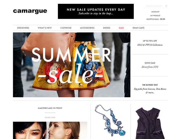 """""""Fashion is like beautiful food, great books, wonderful travel  & lovely music.    It's not the most important thing in the world. It's just about making  ourselves happier & about spoiling ourselves…Camargue is just very  happy to be a part of that.""""    We're very proud of this new online shopfront design for Fortitude Valley fashion retailer @camargue."""
