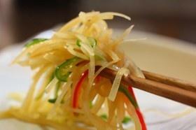 ジャガイモの中華風 シャキシャキ炒め。