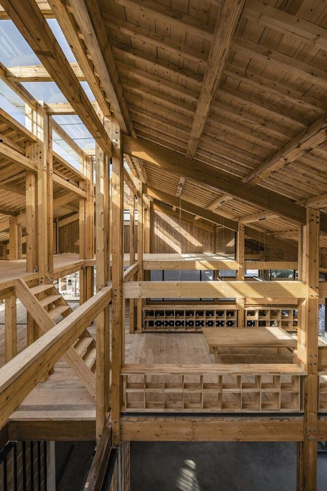 Gallery Of Party And Public Service Center Of Yuanheguan Village Luo Studio 4 In 2020 Timber Structure Roof Structure Roof Design