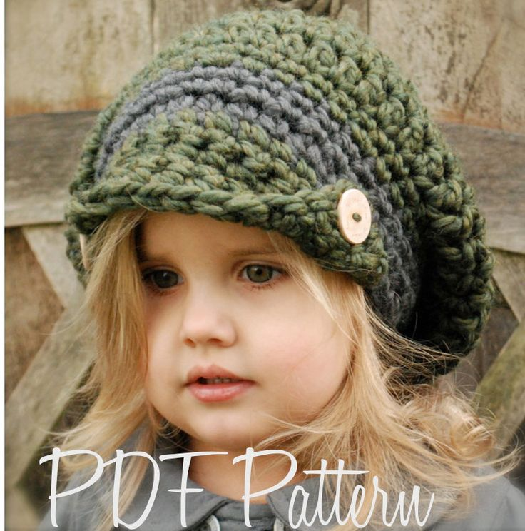Crochet PATTERN-The Addyson Slouchy (Toddler, Child, and Adult sizes) also can be Made to Order. $5.50, via Etsy.
