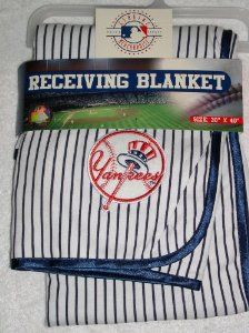 "new york yankees baby blanket | Amazon.com: MLB New York Yankees Receiving Blankets 30"" X 40"": Sports ..."