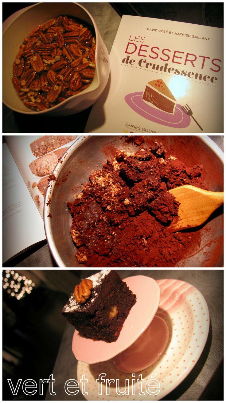 Brownies crus de Crudessence #sansgluten #vegan http://vertetfruite.com/brownies-crus/