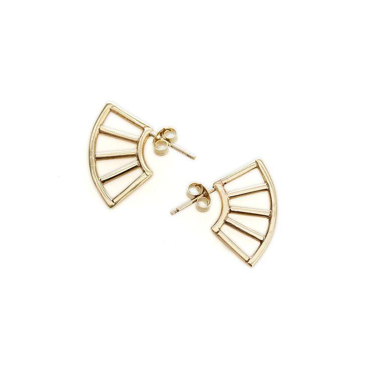 Yellow gold nyala earrings   Dear Rae   Online Shop