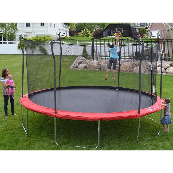 15 Ft Enclosed Trampoline: Fun All The Way To The Sky From Kmart
