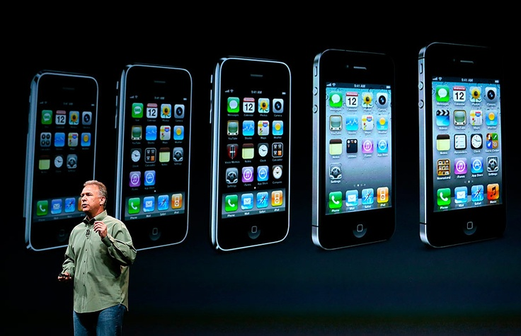 Evolución del iPhone. La nueva versión tiene 44 porciento más saturación de color.