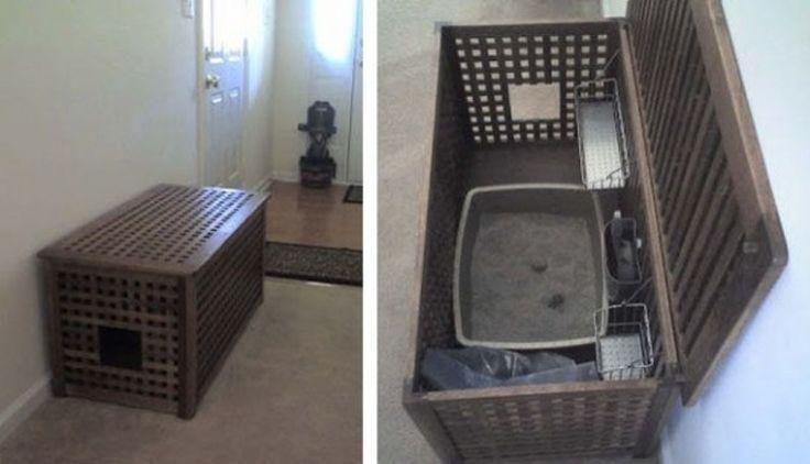 7. #Storage Kitty #Litter Box - 33 Ikea Hacks #Anyone Can do ... → DIY #Great