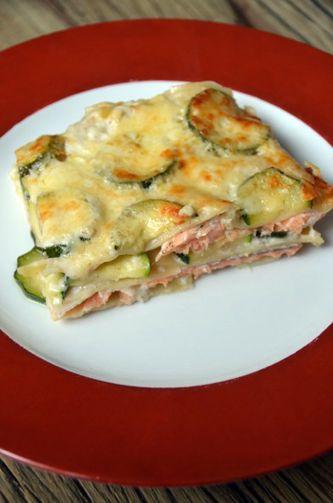 Lasagnes saumon - courgettes