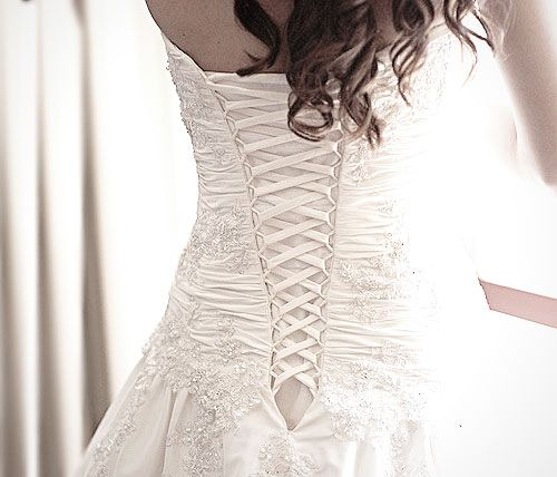 1000 images about lace up modesty panel wedding dress on for Wedding dress with corset top