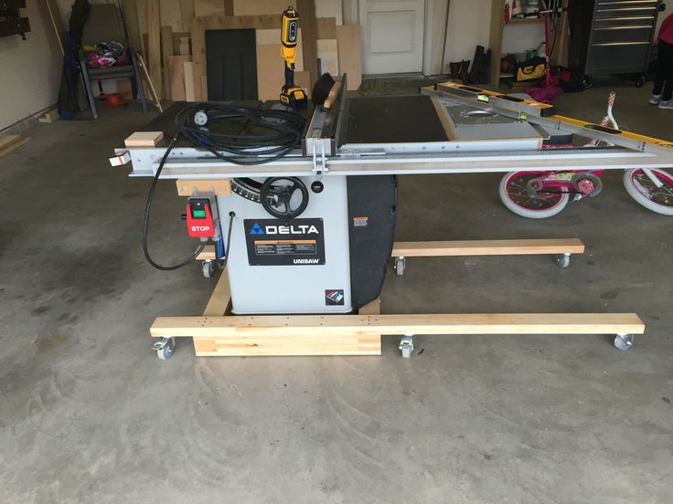 Table Saw Mobile Base Workshop Pinterest Table Saw Tables And Mobiles