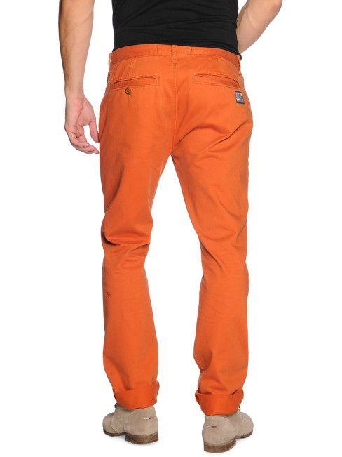 Superdry Chino broek, donker oranje