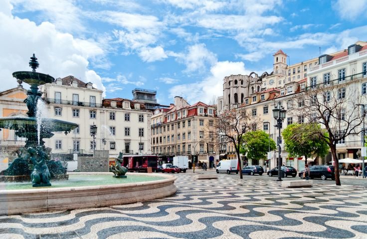 Rossio Square, Lisbon, Portugal puzzle in Street View jigsaw puzzles on TheJigsawPuzzles.com. Play full screen, enjoy Puzzle of the Day and thousands more.