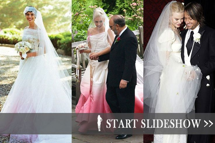 19 Of The Most Spectacular Celebrity Wedding Dresses Of All Time