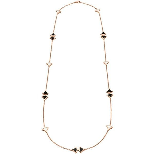 Bvlgari Rose Gold Divas' Dream Sautoir Necklace ($13,225) ❤ liked on Polyvore featuring jewelry, necklaces, 18k jewelry, bulgari necklace, 18k rose gold necklace, mosaic jewelry and bulgari jewellery