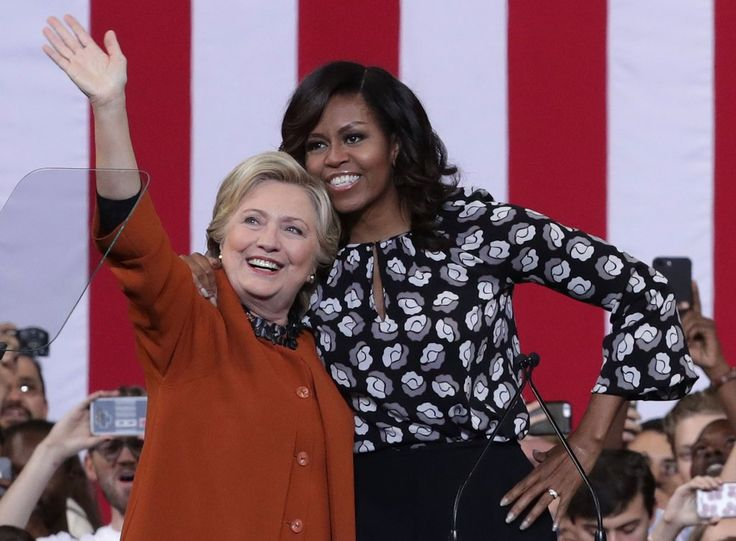 Michelle supported the Democratic presidential candidate at an October 2016 event in North Carolina.