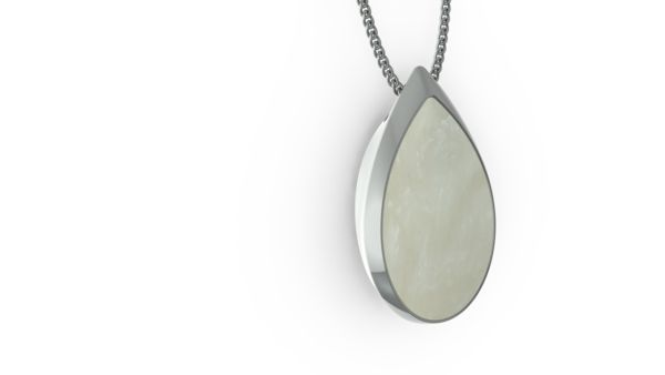 ORA Teardrop in Mother of Pearl Jewelry necklace personal safety alert - not a typical medical alert device