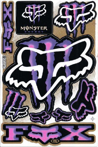Monster Energy Graphic Racing Sticker Decal Motorcycle ATV 1 Sheet Purple/pink