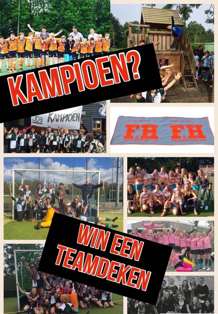 Win een teamdeken met je kampioensfoto ga naar hockeyhout op FB den doe mee. Www.hockeyhout.nl
