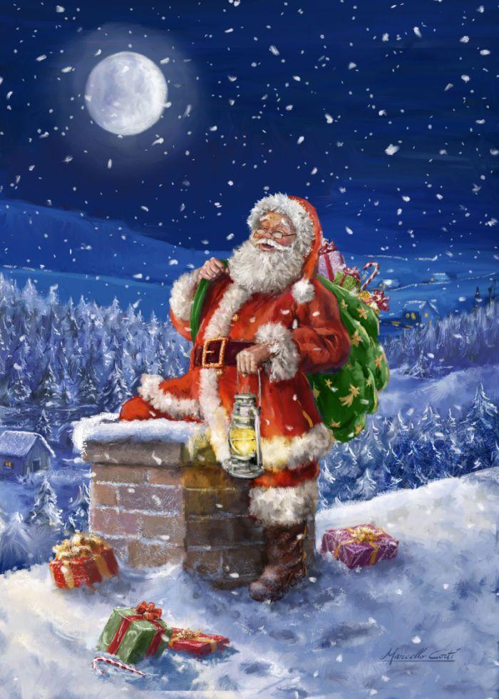 403 besten santa claus bilder auf pinterest weihnachtskunst vintage weihnachten und - Amerikanische weihnachtskarten ...