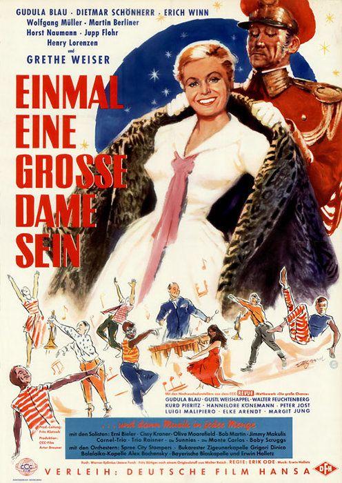 Poster zum Film: Einmal eine grosse Dame sein. 1957